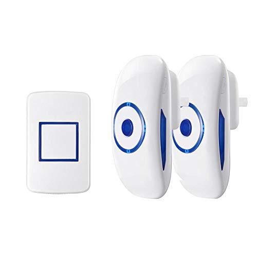 Smart Wireless Remote Türklingel AC 90-260 V 300 mt Reichweite Türklingel 1 Sender + 2 Empfänger mit 36 Glockenspiele, wasserdicht