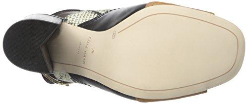 Pompe Cole Haan Tabby Robe haute Sandal Roccia Snake Canvas/Black Leather/Acorn Suede/Blac