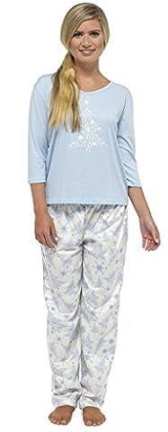 Ensemble de pyjama polaire en laine de Noël pour femme 36-38