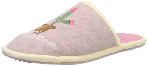 Adelheid Damen Lebenskünstlerin Filzpantoffel Pantoffeln, Pink (Puderrosa 613), 38/39 EU
