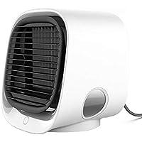 LLDKA El Aire más Fresco Mini refrigeradores de Aire, Aire Acondicionado, enfriadores de Aire Acondicionado Nevera portátil del Ventilador para el hogar,Blanco