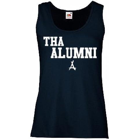 TRVPPY Donna Tank-Top Canotta Maglietta Shirt Modello Kid Ink Tha Alumni, diversi colori e (Ink Tank Modello)