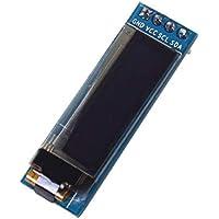Módulo de pantalla OLED de 0.91 pulgadas, 0.91 pulgadas Pantalla de visualización OLED 128 * 32 DC 3.3V 5V SSD1306 Driver IC Módulo de bricolaje Bajo consumo Autoiluminación Pantalla LCD