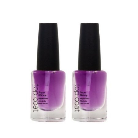 CND Cosmetics Lot 2 Farbe Super glänzendem 0,84 oz High Gloss Nail Shine Top Coat Polish Salon (Super-high-gloss Top Coat)