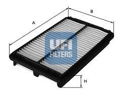 Preisvergleich Produktbild UFI 30.076.00 Luftfilter
