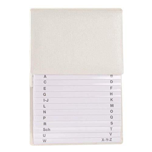 Goldbuch Telefonregister, A-Z, 17 x 23 cm, Beschichtetes Leinen, Beige, 60741