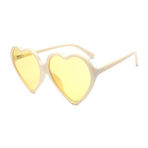 VRTUR Unisex Herz Form Sonnenbrille Sonnenbrillen Sonnen Brille Mode Retro Brille Damen Brillen(One size,J)