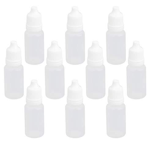 Tropfflaschen, Kunststoff, komprimierbar, mit Augentropfen, 10 Stück (10 ml)