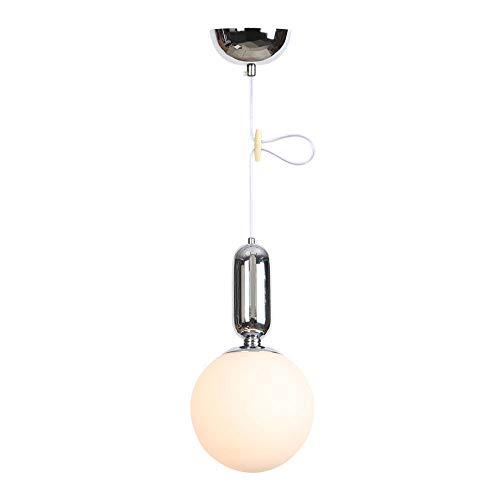 Lampada da lampadario vintage industriale a forma di fagiolo magico sfera in vetro con paralume regolabile in altezza per isola cucina, agriturismo, ristoranti, hotel e negozi