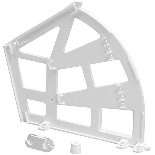 SECOTEC Kippbeschlag für Schuhschränke Schuhablage mit 3 Fächern Mit universaler Aufnahme für beide Seiten Riemen, 27 cm, Weiß
