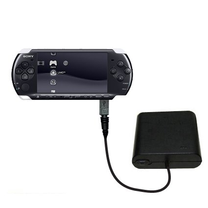 Tragbares Notfall-Batterieladegerät AA kompatibel mit Sony PSP-3001 Playstation Portable Slim Mit TipExchange Technologie (Sony 3001 Psp)