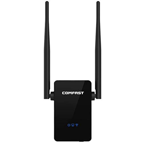 TriLance Wifi Repeater 300 Mbit/s WLAN Signal Verstärker WLAN Range Extender & Signal Booster Repeater 802.11n (2,4 GHz, 1x Fast-Ethernet Port, WPS, Kompatibel mit Allen WLAN Geräten) Laptop-antenne Booster