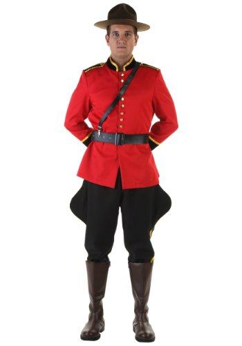 Fun Costumes Canadian Mountie Kostüm für Herren - - Mountie Kostüm