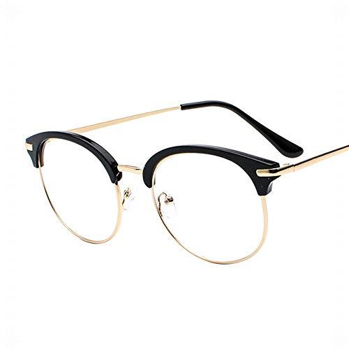 WULE-RYP Polarisierte Sonnenbrille mit UV-Schutz Einfache Metallbrille Frame Vintage Brillen, Unisex (Herren/Damen). Superleichtes Rahmen-Fischen, das Golf fährt (Farbe : Gold/Black)