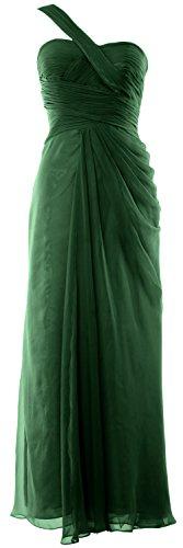 MACloth - Robe - Asymétrique - Sans Manche - Femme Vert foncé