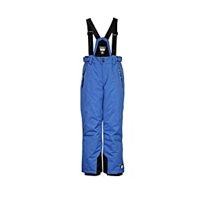 Killtec Jungen Devlin Melange Jr Skihose / Funktionshose mit abzippbarem Latz, Schneefang und Kantenschutz
