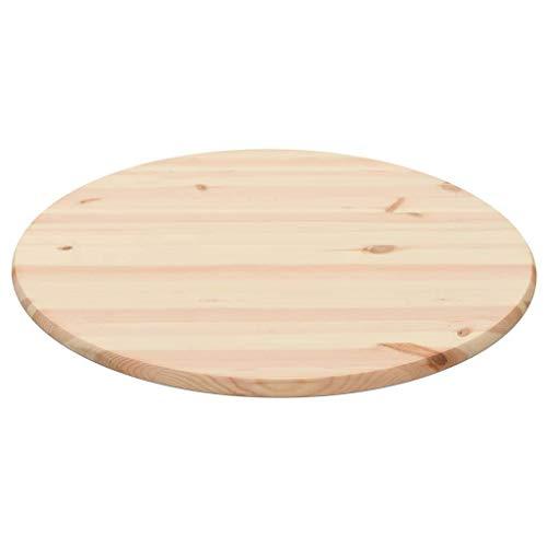 vidaXL Kiefernholz Tischplatte Rund 28 mm 80cm Holz Platte Holzplatte Esstisch