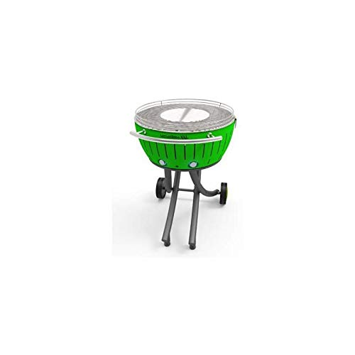 LotusGrill XXL barbecue a carbonella, colore: verde Lime, 78 x 78 x 48 cm