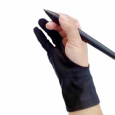 MASUNN Guante De Seguridad Artista Guante Para Cualquier Tableta Gráfica Negro 2 Dedos Anti-Incrustantes Mano Derecha E Izquierda Disponible