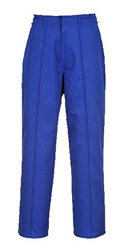 Portwest Wakefield Durable Pantalon de travail Pantalon avant pli de travail 71,1cm–121,9cm bleu marine