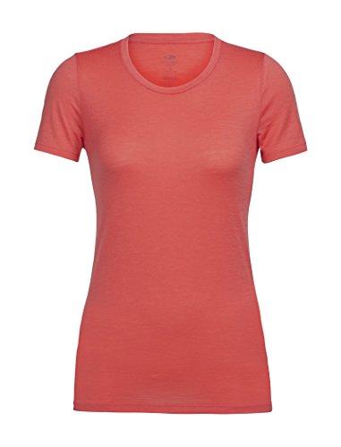 Icebreaker Damen Tech Lite SS Low Crewe T-Shirt, Poppy Red, XL -
