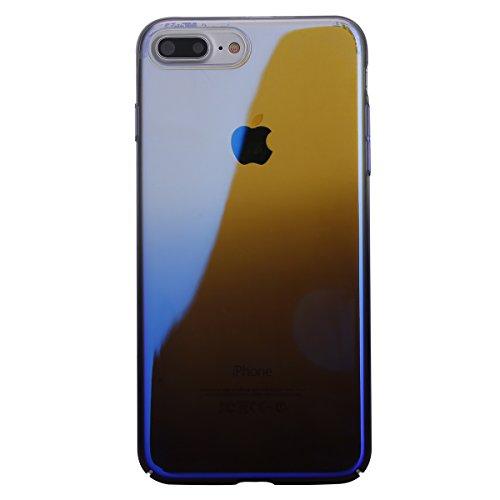 Coque iPhone 7,Étui iPhone 7,Coque Étui Case pour iPhone 7,ikasus® Étui silicone pare-chocs histoire couleur miroir souple TPU Coque iPhone 7 Silicone Étui Housse Téléphone Couverture TPU Clair éclat  Bleu foncé
