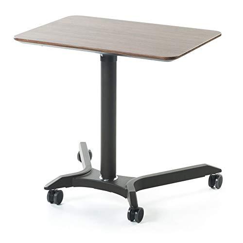 Laptopständer DD Air Lift Computer Tisch Sitz/Steh Schreibtisch - Mobile Konferenztisch - Podium Nachttisch -Werkbank (Farbe : Walnut Color)