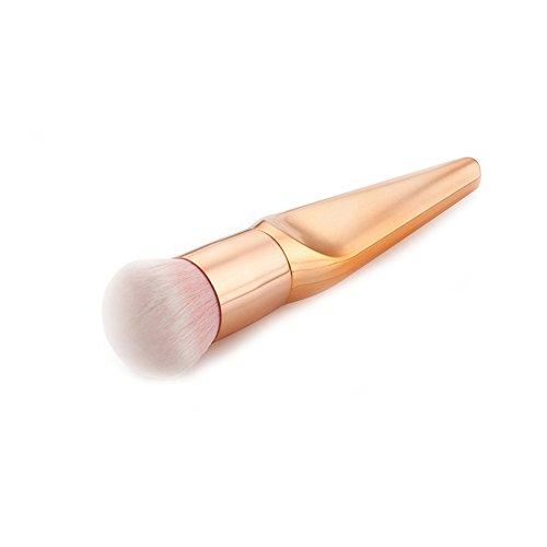 Hrph Top Rond Pinceau de Maquillage Cosmétique Professionel Poudre Foundation Correcteur Crème BB Forme Fishtail