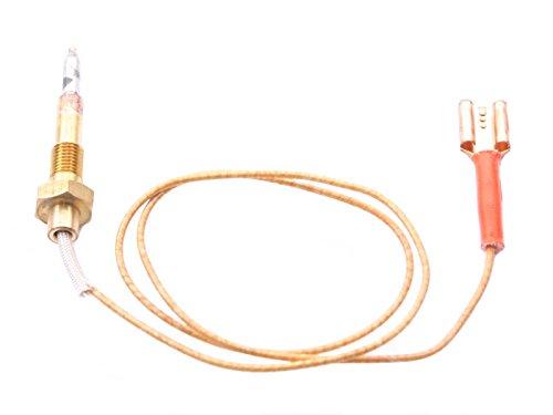 Thermoelement für Gasherd für große Brenner mit Kabelverbindung Länge 450mm mit 1 Leiter M6x0,75 - Thermoelement-brenner