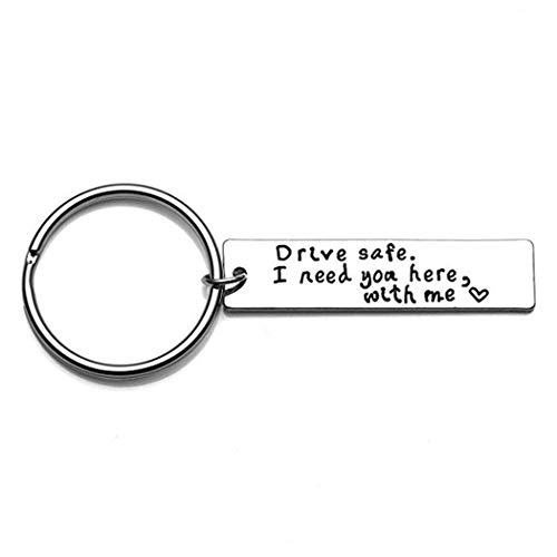 ODN Auto Schlüsselanhänger Brief Drive Safe Beschriftung Keyring Schlüsselbund Schlüsselring Geschenk für Geliebten Menschen