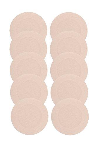 Glus Nipple Shield No Show Through Pasties/Help in Swimming /Go Bra less ,Pack Of 5 ,Shape - ROUND