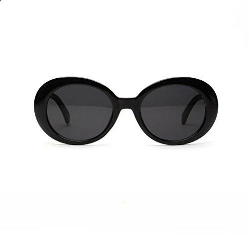 Runde Sonnenbrille Mode Brille Katzenaugen-Sonnenbrille Arbeiten Sie Männer Womens Retro Weinlese runde Rahmen UVglas Sonnenbrille um (Schwarz) (Womens 80er Mode)