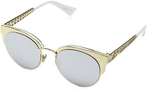 Dior Damen DIORAMAMINI DC J5G Sonnenbrille, Gold/Extra White Marl, 50