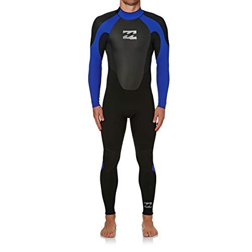 2017 Billabong Intruder 5/4mm GBS Back Zip Wetsuit in BLACK / Blue O45M15