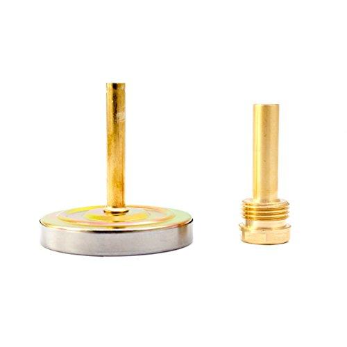 Lantelme Bimetall Analog G 1/2 ' Gewinde 120 °C Grad Silber Thermometer für Heizung – Lüftung – Sanitär – Wasser . Made in Germany, Farbe / Gehäuse:silber / Metallgehäuse - 3