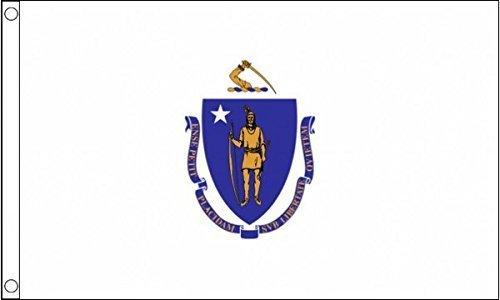 0,91 Meters 1,52 Meters X 5 'X3'stato Massachusetts bandiera americana Usa