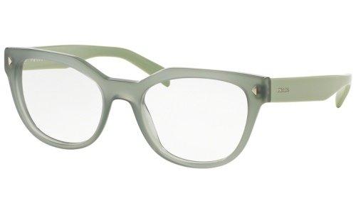 Prada Eyeglasses Women's 21S UEI-1O1, Opal Dark Green Frame Plastic, 53mm