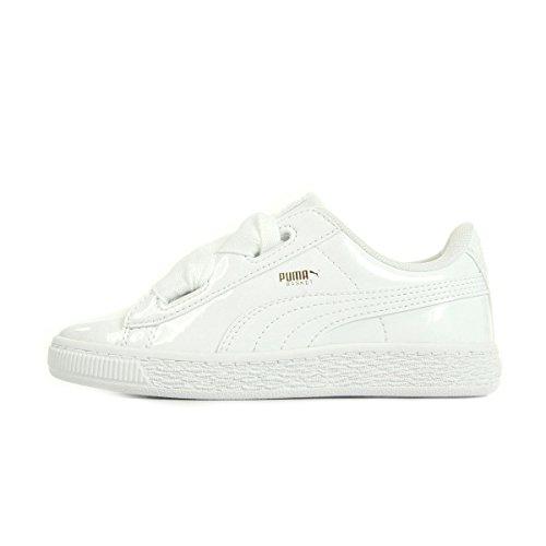 asket Heart Patent Inf Sneaker, Weiß White White 2, 25 EU (Mädchen-patent Schuhe)