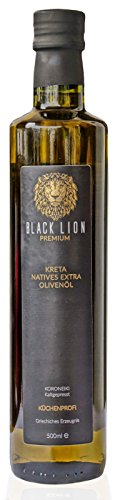 KRETA Premium Olivenöl Kaltgepresst | griechisches extra natives 0,3% Öl (Vergine) | zum Kochen / Braten - mild, fruchtig | GRIECHENLAND | Black Lion |