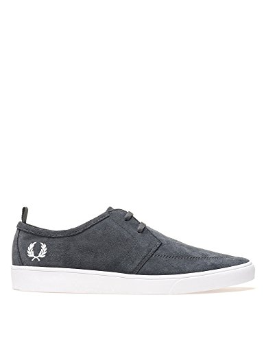 Fred Perry Mens Shields Mens Suede Dark Grey Sneakers Grey
