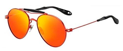 Givenchy gv 7012/s zp qfv, occhiali da sole unisex-adulto, rosso (red/brown), 56