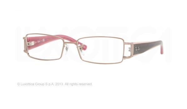 Ray-Ban - Womens Rectangle Optical Frames, 52 mm, Light Brown