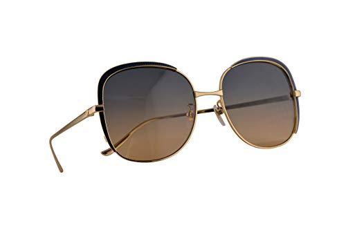 Gucci GG0400S Sonnenbrille Gold Blau Mit Mehrfarbigen Verspiegelten Gläsern 58mm 006 GG0400/S 0400/S GG 0400S