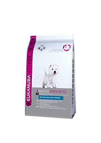 Eukanuba Premium Hundefutter für West Highland Terrier, Trockenfutter mit Huhn (1 x 2,5 kg) -