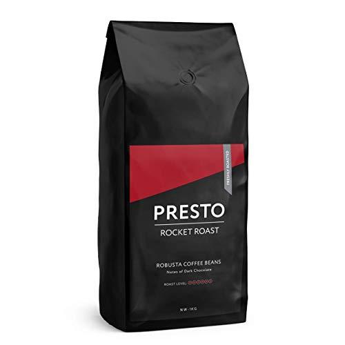Presto Coffee - Kaffeebohnen - Ernsthaft Stark - Robusta Kaffee - Raketentreibstoff (Kaffeebohnen 1KG)