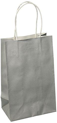 Silber Kleine Papier Geschenk Tasche