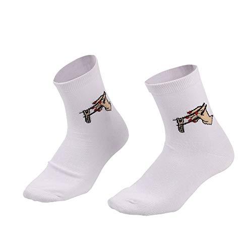 en Socken dicke warme Crew Fuzzy Funny Print Slipper Socke ()