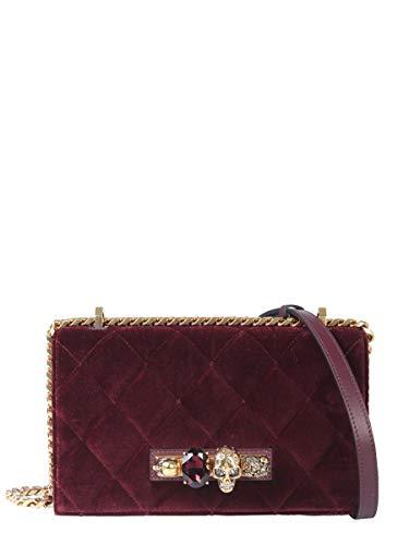 Alexander McQueen Luxury Fashion Donna 554128KR4AT6001 Bordeaux Borsa A Spalla | Autunno Inverno 19