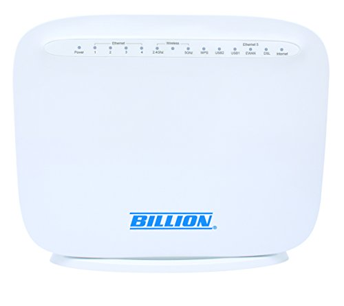 Billion BiPAC 8800AXL VDSL2(Fibre)/ADSL2+ Dual Band Wireless AC 1300 Modem Router with 3G/4G LTE failover 4 x Gigabit LAN, 1 x Gigabit WAN and 2 x USB port