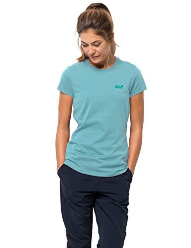 Jack Wolfskin Damen Essential T-Shirt, Aqua, XS (Damen Ski-jacke Xsmall:)